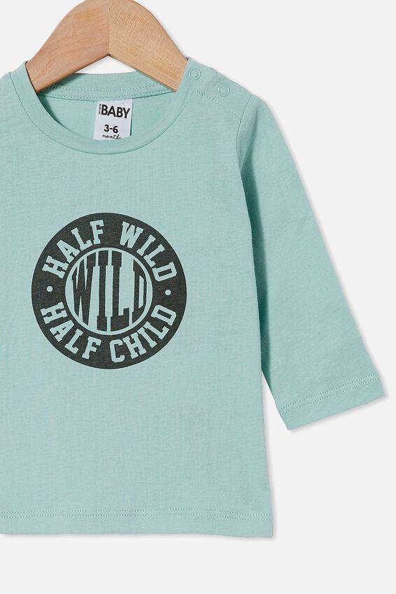 Jamie Long Sleeve Tee, DUCK EGG/HALF WILD HALF CHILD