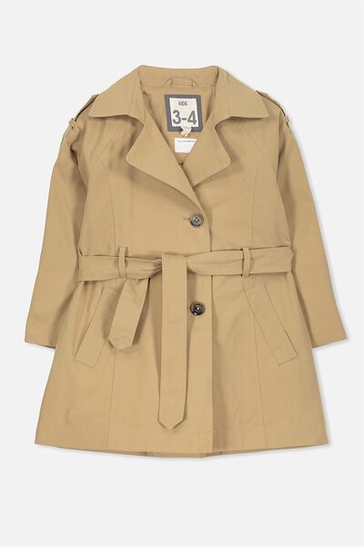 Tammie Trench Coat, TAN