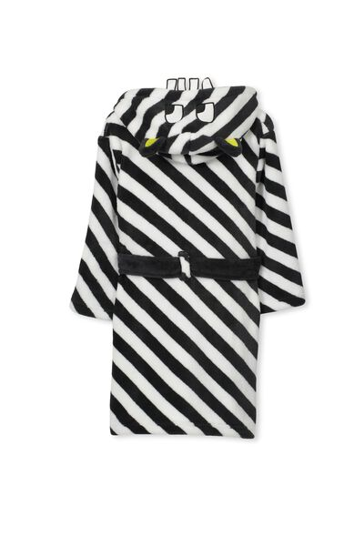 Boys Hooded Gown, STRIPEY MONSTER