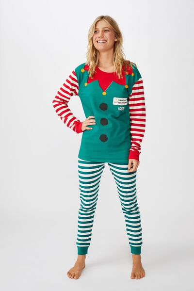 Jo Adults Unisex Pj Set - Personalised, XMAS ELFIE PERSONALISED