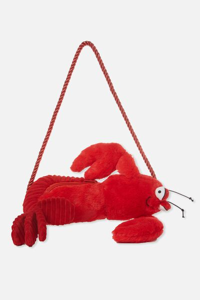 Plush Animal Bag, LOBSTER