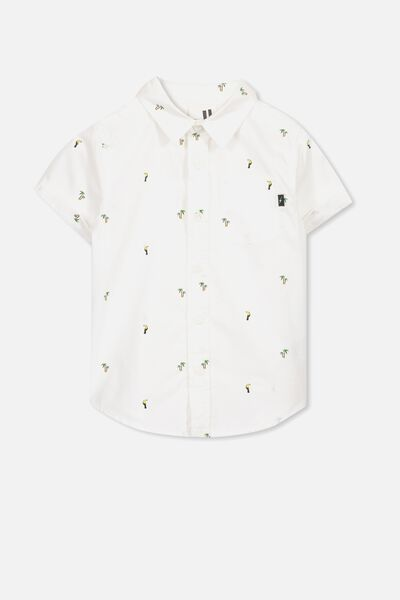 Jackson Short Sleeve Shirt, WHITE/TOUCAN