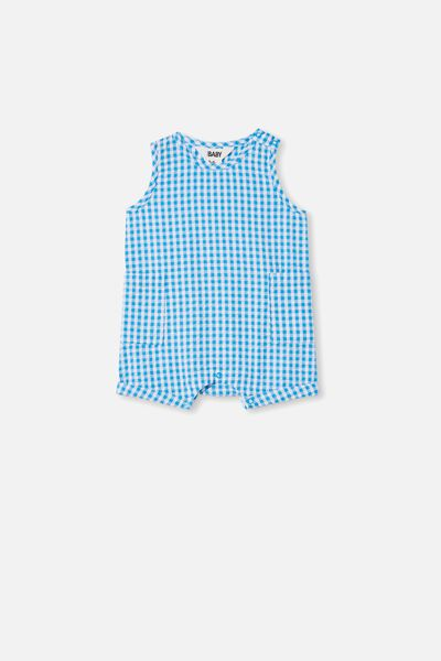 Tobias Romper, BLUE BIRD/MINI GINGHAM