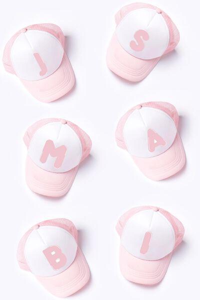 Letter Retro Cap, PINK M/L