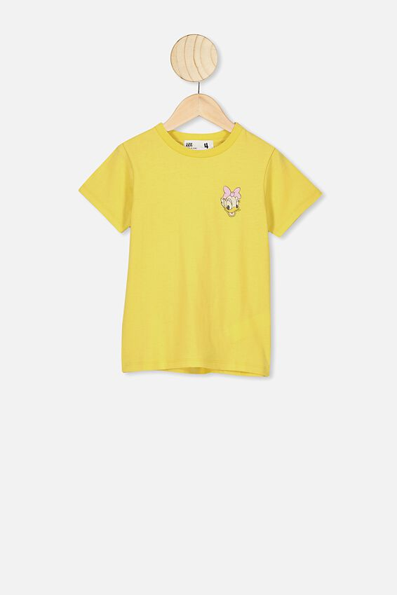 Lux Short Sleeve Tee, LCN DIS SUNSHINE/DAISY DUCK