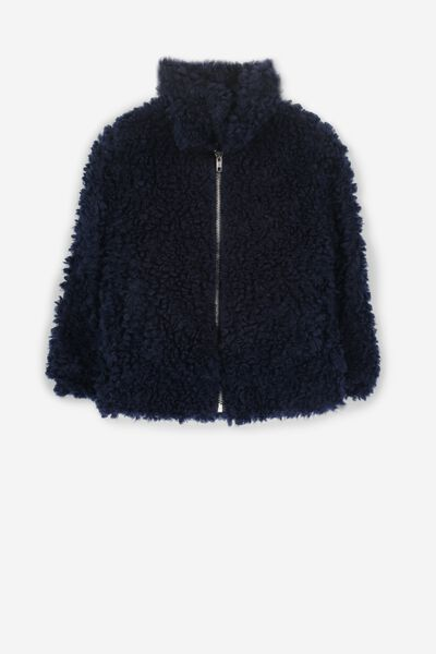 Tash Teddy Slouch Jacket, PEACOAT