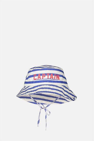 Kids Bucket Hat, STRIPE/CAPTAIN