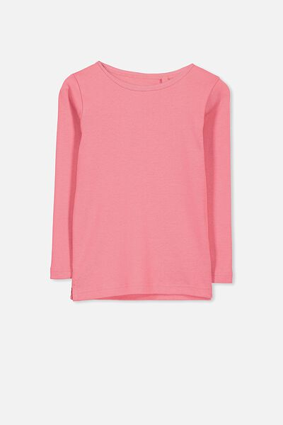 Jessie Crew Long Sleeve Tee, TERRACOTTA ROSE