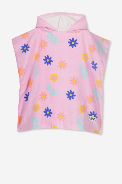 Kids Hooded Towel, LAVENDER FLORAL
