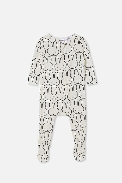 The Snug Long Sleeve Zip Romper Lcn, LCN MIF VANILLA/MIFFY