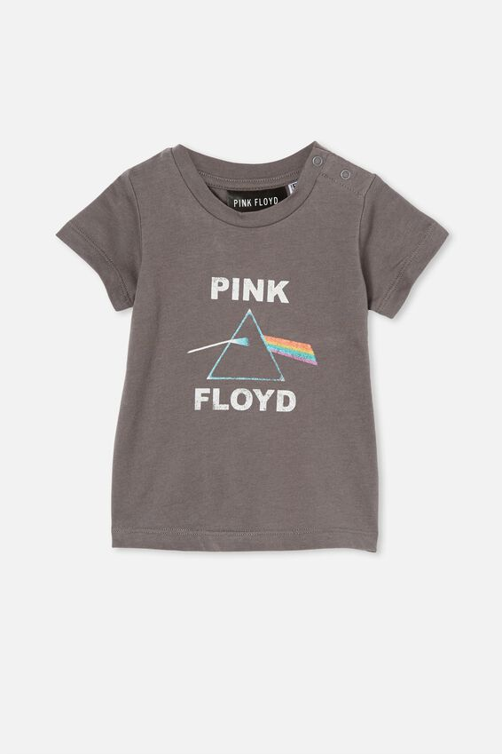 Jamie Short Sleeve Tee-Lcn, LCN PER RABBIT GREY/PINK FLOYD TRIANGLE