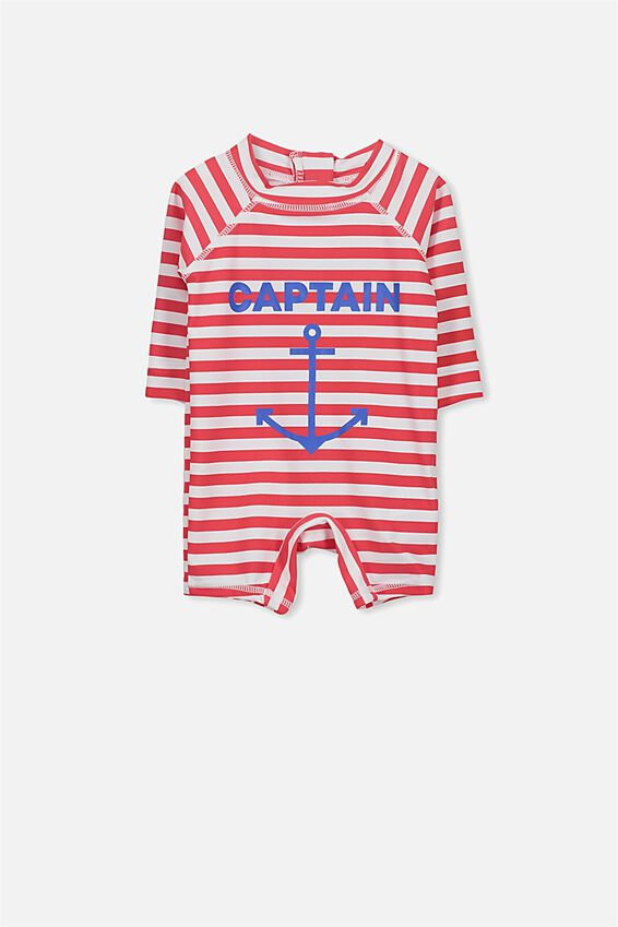 Harris One Piece, BONFIRE RED STRIPE/CAPTAIN