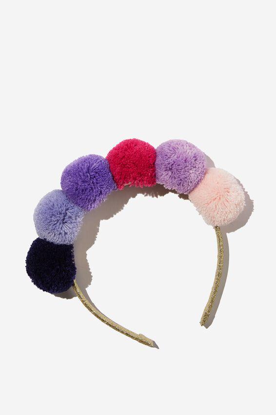 Headband - Novelty, GRADIENT POM POM