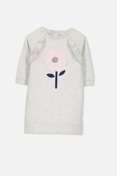 Haven Long Sleeve Dress, CLOUD MARLE/FLOWER
