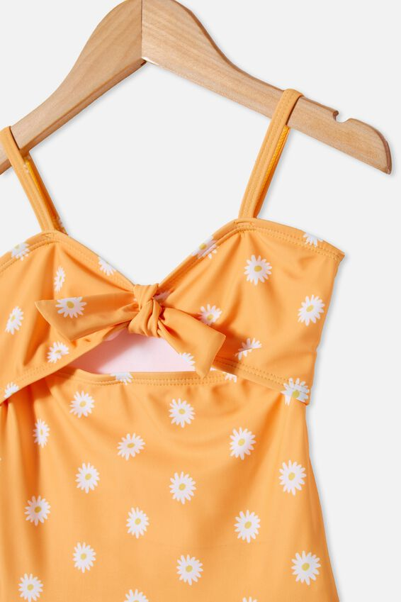 Val Cut Out One Piece, PAPAYA/DAISIES