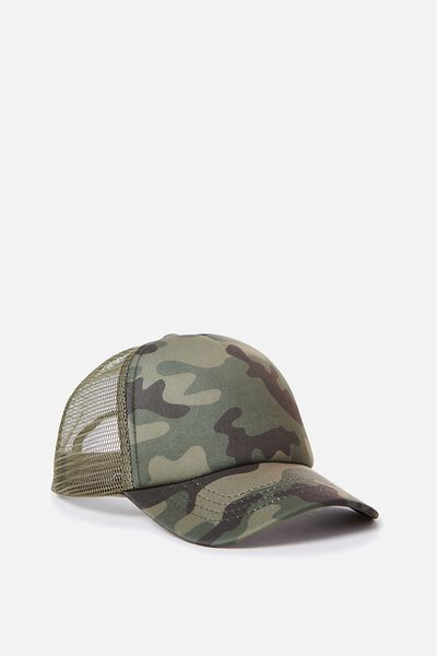 Kids Trucker Cap, CAMO