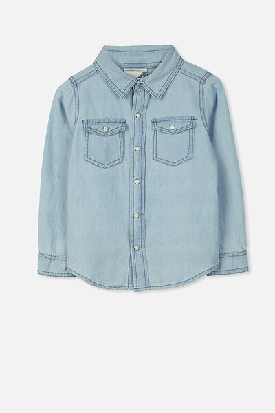 Sunny Chambray Shirt, BLEACH WASH