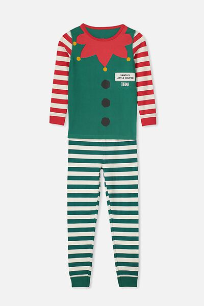 Billie Ls Unisex Pj Set - Personalised, XMAS ELFIE PERSONALISED