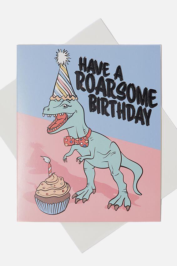 Birthday Gift Card, ROARSOME BIRTHDAY DINO