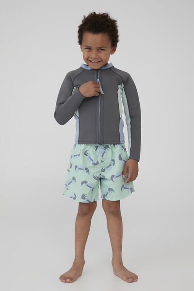 Hayman Long Sleeve Wetsuit Vest, RABBIT GREY