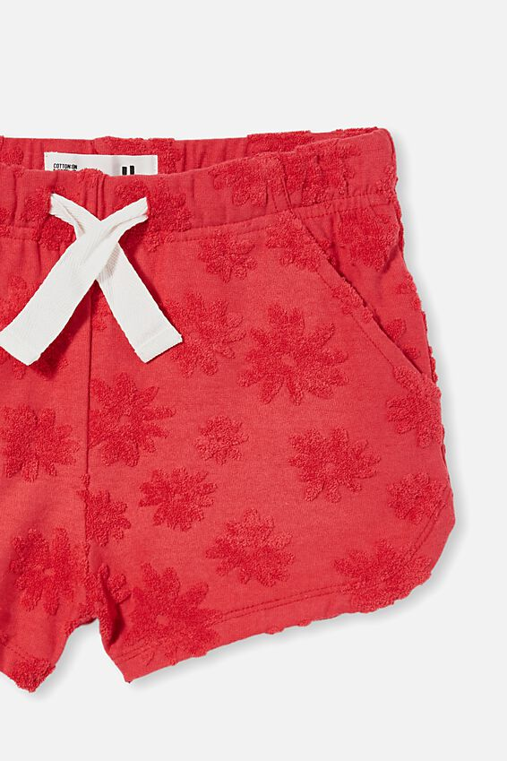 Gianna Knit Short, LUCKY RED DAISIES
