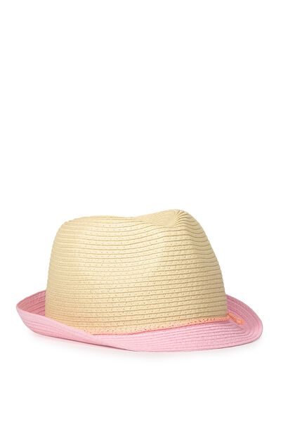 Trilby Hat, SOFT CORAL CORD