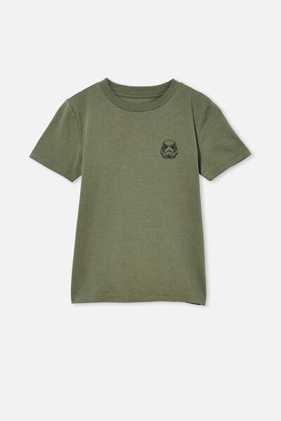 Co-Lab Short Sleeve Tee, LCN LUC SWAG GREEN / STAR WARS