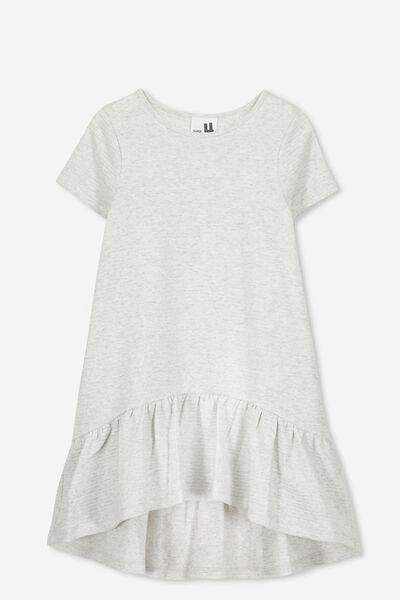 Joss Short Sleeve Dress, SUMMER GREY MARLE/TEXTURE