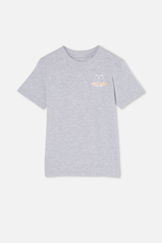 Downtown Short Sleeve Tee, LT GREY MARLE / FAT CAT