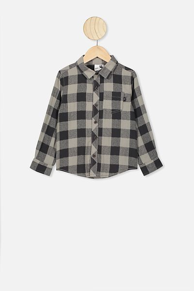 Rugged Long Sleeve Shirt, SILVER SAGE/PHANTOM BUFFALO CHECK