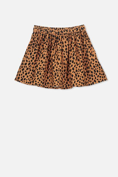 Ellie Flippy Skirt, SUNBURN ANIMAL