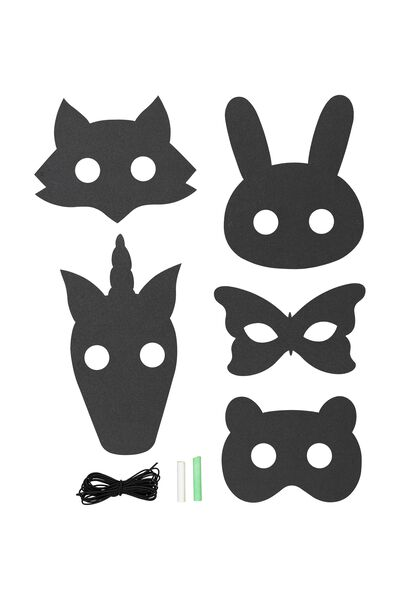 Chalk Board Masks, PINK