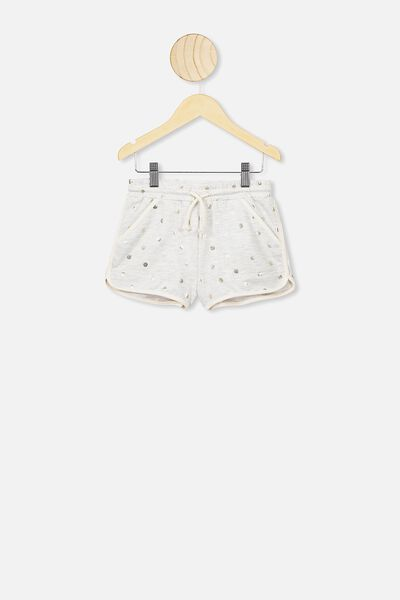 Nina Knit Short, SUMMER GREY MARLE/GOLD SPOTS