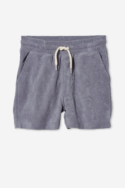 Henry Slouch Short 80/20, STEEL/TERRY TOWELLING