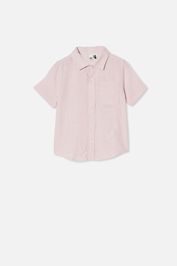 Resort Short Sleeve Shirt, PINK QUARTZ