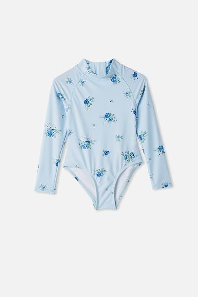 Lydia One Piece, FROSTY BLUE/PRETTY FLORAL