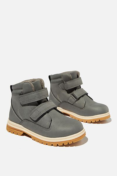 Double Strap Boot, RABBIT GREY