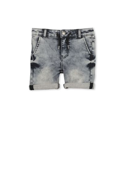 Jerry Loop Back Short, ACID GREY WASH