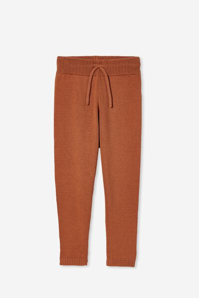 Angus Knit Trackpant, AMBER BROWN