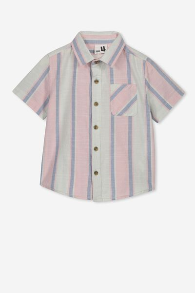 Resort Short Sleeve Shirt, SUMMER VERTICAL STRIPE