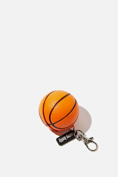 Sunny Buddy Squishy Bag Charm, BASKETBALL