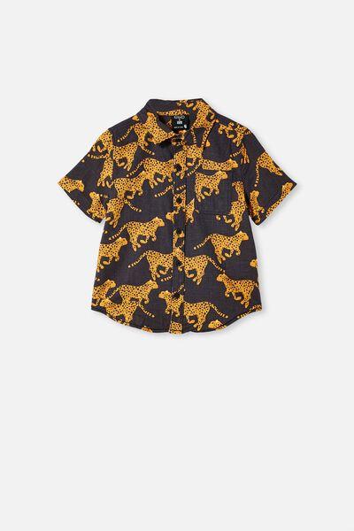 Kip & Co Resort Short Sleeve Shirt, LCN KIP CHEETAH