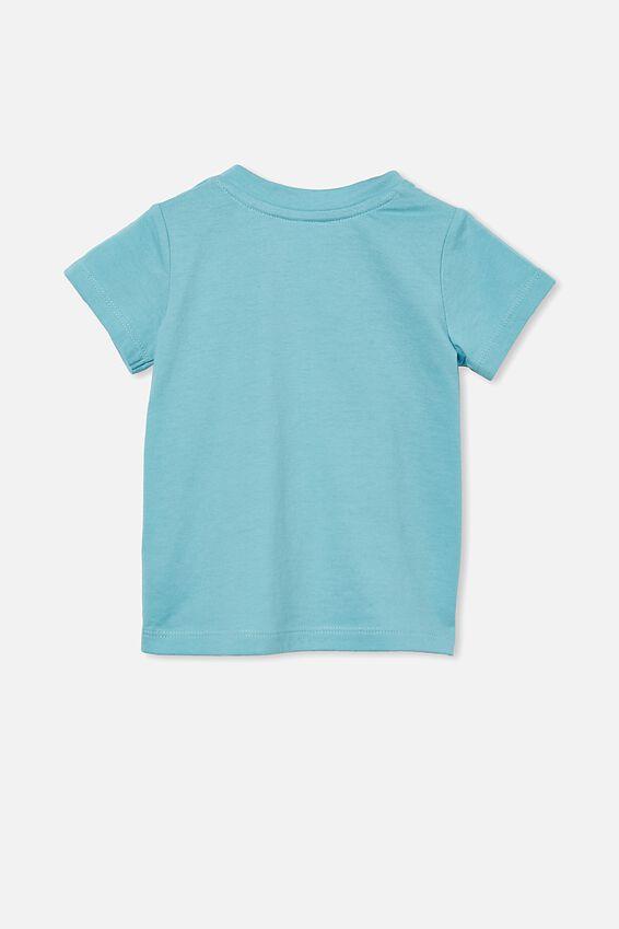 Jamie Short Sleeve Tee, BLUE ICE/HONEY BUNNY