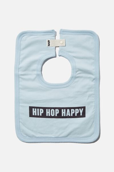 The Square Bib, FROSTY BLUE/HIP HOP HAPPY