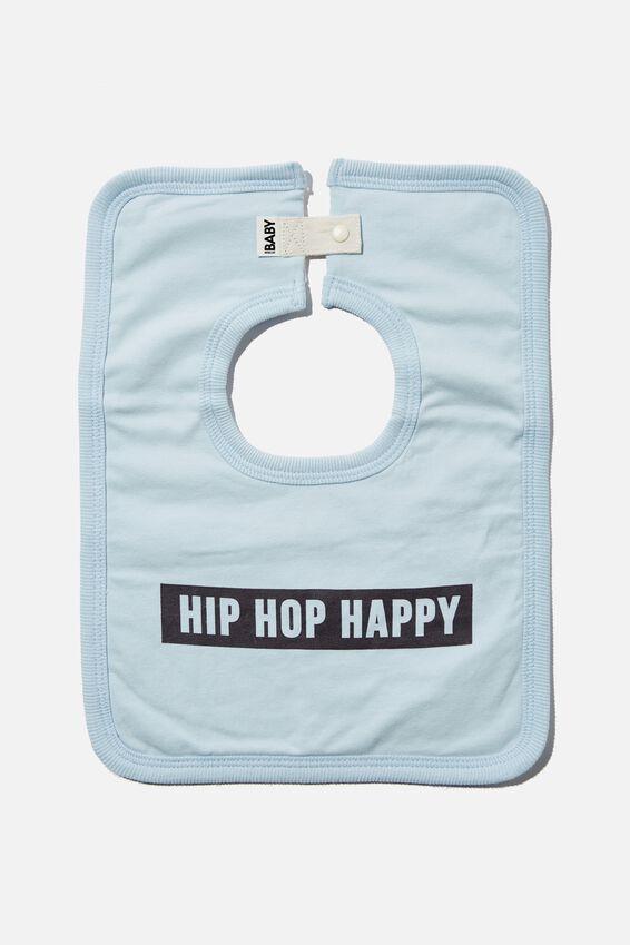 The Square Bib, FROSTY BLUE/HIP HOP HAPPY