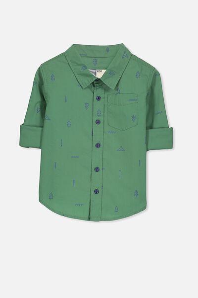 Noah Long Sleeve Shirt, GABBY GREEN/TREES