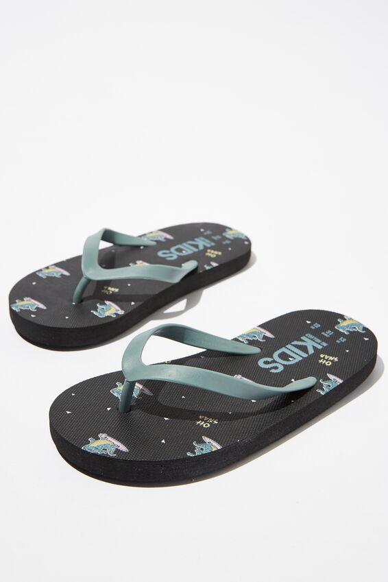 Printed Flip Flops, CROC SNAP