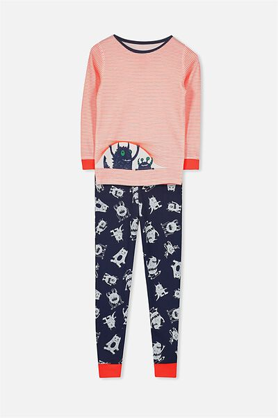 Dan Long Sleeve Boys PJs, PEEKING MONSTER