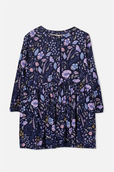 Sami Shirt Dress, PEACOAT/FLORAL