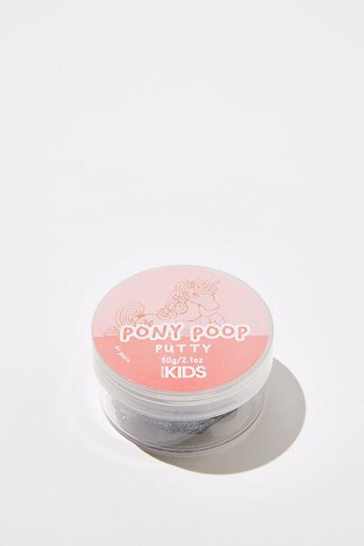 Kids Putty, PONY POOP/DARK GLITTER